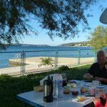unser Frühstücksplatz am Camp Segat