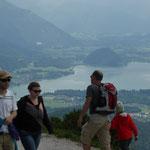 Blick vom Zwölferhorn auf den Wolfgangsee