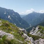 traumhafte Blicke ins Triglav-Gebirge