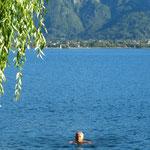 zum Abschied ein letztes Bad im Caldonazzo-See