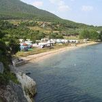 Übernachtungsplatz Agia Satira Beach bei Vonitsa
