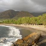 stimmungsvolles Bild vom Strand bei Sfinari