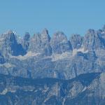 Blick vom Panarotta auf das Brenta-Massiv