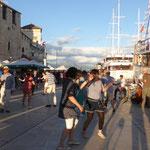 am Hafen von Trogir