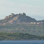 Blick vom Stellplatz zum Bär von Palau