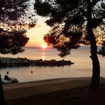 Sonnenuntergang vor CP Kovacine
