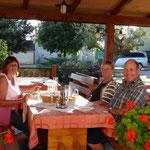 fürstlich speisen mit Camperfreunden aus der Heimat