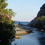 baden im Meer - abduschen im klaren Süßwasser