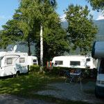 unser Stellplatz am CP Berghof am Ossiacher See