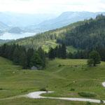 Illinger Alm mit Blick auf den Wolfgangsee