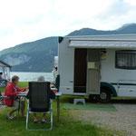 unser Stellplatz am Camping Lindenstrand