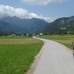 unterwegs zum Jezero Bohinjska