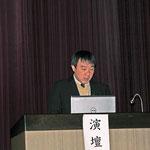 「高知市都市圏における交通渋滞の現状と対策」と題して研究発表される㈱第一コンサルタンツの芝田和仁氏