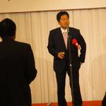 高知市会議員の土居先生による乾杯