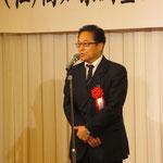県会議員で自民党幹事長の武石顧問による挨拶