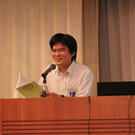 会計検査院のパンフレット、望月雄二氏著「会計検査と公共工事」などを用いて説明をされる藤原敏氏