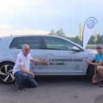 Die beiden Gewinner der Gruppe Romandie: Philippe Weber (54) aus Villeneuve FR (Ford Kuga) und Guillaume Légeret (31) aus La Tour-de-Trême (Ford S-Max)