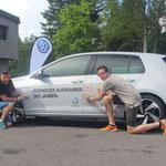 Und so sehen die zwei Bestplatzierten aus der Deutschschweiz aus: Roger Lanz (57) aus Arch (Opel Corsa) und Joël Hirlemann (25) aus Biel (Audi S3)