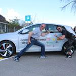 Bernhard und Stefan kämpfen um den GTI