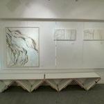 右「もつれた、いと」   90x110cm 2011年@Gallery NANNA