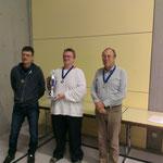 Sieger-Podest A-Turnier (1. A. Wipecki / Mitte; 2. H. Wirthensohn rechts; 3. M. Saurer)