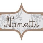Logo de Nanetti.  NANETTI significa Enanito en italiano.