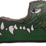"""""""Crocodile"""" Bois laqué acrylique.Collection privée."""