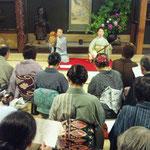 料亭初音家にて藤本茂染香さんによる「川越小唄」を聞く会・鼓はきんこ姐さん