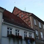 Reste eines Dachgestänges in der Burgstraße