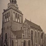 Blick auf die Pfarrkirche zu Güstrow vor dem Umbau 1883 aus Südwesten