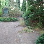Mitte der Grabanlage