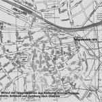 Verlauf der Telegrafenleitungen um 1879