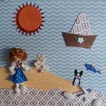 Am Meer mit Püppchen