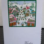 45 Die kleine Weihnachtskarte  - 4,00€ - handcoloriert - Maxi