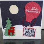 15 verkauft Der Weihnachtsmann im Gasluftballon mit handgefertigtem festen Umschlag 8,--€ - Grand