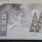 19 Hirsch am Stadtrand bei Schnee - 6,50€ - mit oder ohne Geldtasche - Maxi