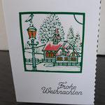 46 Die kleine Weihnachtskarte - 4,00€ - handcoloriert- Maxi