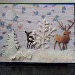 41  Hirsch und Kitz im Wald (Rosen) - 6,50€ - mit oder ohne Geldtasche- Maxi