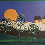 O 6 Nachtidylle - Grandkarte im Naiven Stil 8,00€