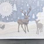 21 Hirsche im Wald - mit oder ohne Geldtasche - 6,00€ -  Maxi