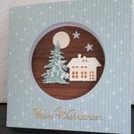 4 Miniaturbild mit Holz 2   -  8,00€ -  auf der Rückseite kleine Karte im Steckfach  -mit handgefertigtem festen Umschlag - Grand