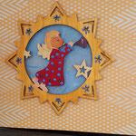 29 kleiner Engel - 7,00€ -handbemalt - mit Geldtasche - Grand