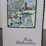 44 Die kleine Weihnachtskarte -  4,00€ - handcoloriert- Maxi