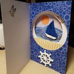F 15 Segeln - Tunnelkarte Maxi 7,00€ - mit passendem Umschlag