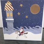 13 verkauft Der eilige Weihnachtsmann am Meer 8,00€ - mit oder ohne Geldtasche  -mit handgefertigtem festen Umschlag - Grand