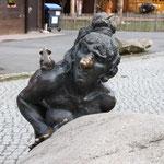 Hexe auf dem Hexentanzplatz in Thale