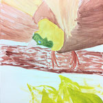 水彩のように薄く塗り重ねて、鳥の羽のふわっとした感じがとても良く出せました。かるーい感じがするね