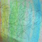 「虹色夜空」 月明かり、星明りが作りだす虹です。