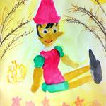 ピノキオの周りに秋の世界が広がってるね。ふんわりしたいい雰囲気です。