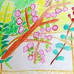桜を中心とした、ポップで楽しい作品になりました!